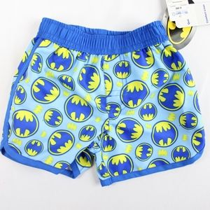 Baby Boy Batman Swim Trunks Shorts Blue Yellow